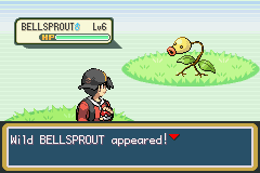 Pokemon Shiny Gold - Wild Bellsprout - User Screenshot